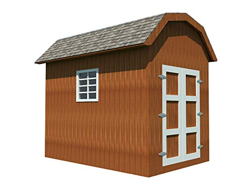 (Storage Shed Plans DIY Backyard Utility House Building Plan Gambrel Roof 8'x12')