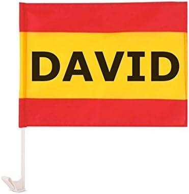 Regalo Original Bandera de España para el Coche Personalizada con tu Nombre o Texto 40x30cm: Amazon.es: Deportes y aire libre