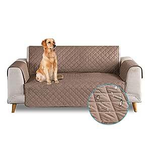 PETCUTE Sofa Fundas de sillones Impermeable Cubre sillones Fundas para sillones Fundas de Sofa 1 Plaza para Perros Gatos café
