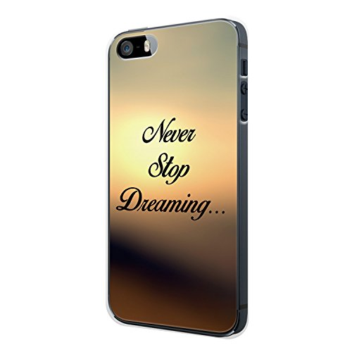 Never Stop Dreaming... Vintage iPhone 5 / 5S Hülle Cover Case Schale Spruch Zitat Motivation