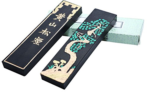 Easyou Hukaiwen Blueish Ink Stick Ink Block for Chinese Japanese Calligraphy and Drawing Hssy 31g