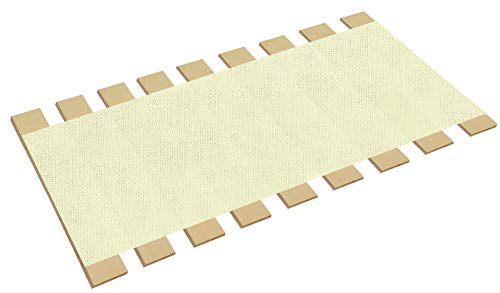 - The Furniture Cove Queen Size Custom Width Bed Slats White Burlap Fabric-Help Support Your Box Spring Mattress (61