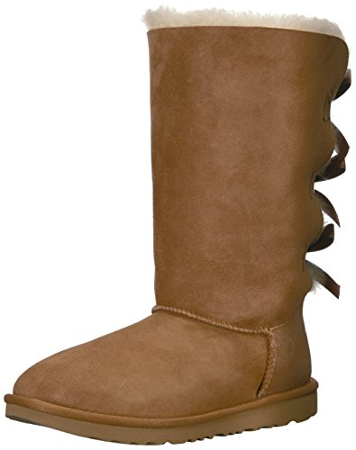 UGG Kids K Bailey Bow Tall II Pull-on Boot, Chestnut, 5 M US Big Kid]()