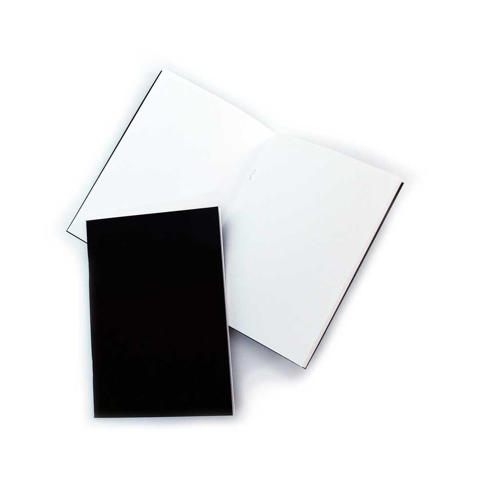 Pack of 3 x A5 Matt Black Cover Starter Sketchbooks with 140gsm White Cartridge Paper STA5BCX3