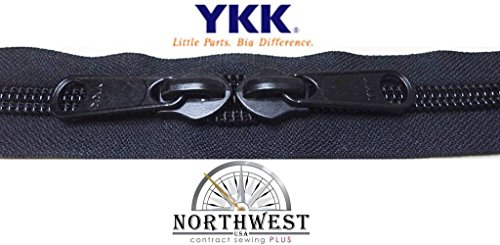 YKK #10 Zipper coil chain with 2 sliders per yard. MANY COLORS. Sold in 10-yard lots. Please see our other listing for size 5 & size 8 (10 yards & 20 black sliders, (10 Yard Coil)