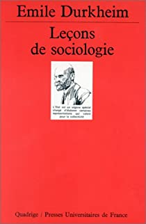 Leçons de sociologie par Durkheim