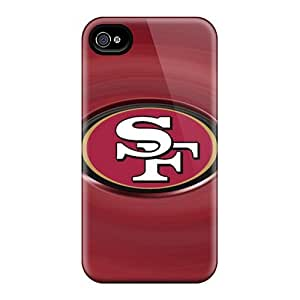Shock Absorption Hard Cell-phone Case For Iphone 4/4s (MLb26063UGdz) Provide Private Custom Vivid San Francisco 49ers Pictures