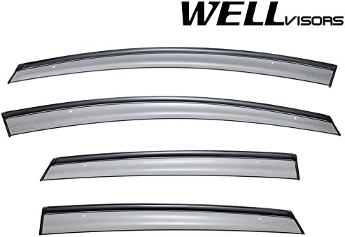 WellVisors Window Visors 2011-2019 For Ford Fiesta Sedan Side Deflectors