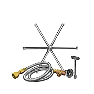 Firegear DBS-22K-OAS-LP35 Match Light Gas Fire Pit Burning Spur Kit, Propane, 22-inch