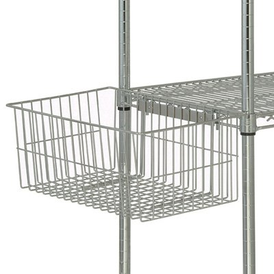 Quantum Storage Systems UB10 Utility Basket for Wire Shelving Units, Chrome Finish, 7-5/8