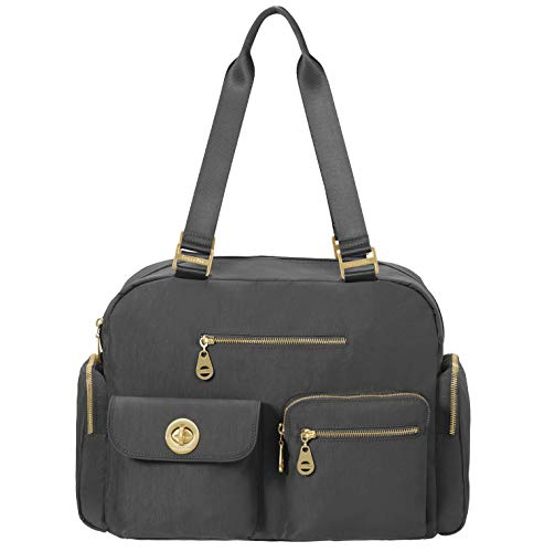 Baggallini Gold International Venice Laptop Tote, Charcoal