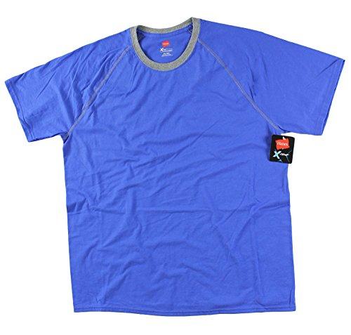 Hanes Men's 2 Pack X-Temp Performance T-Shirt (X-Large, Dark Blue / Grey) by Hanes