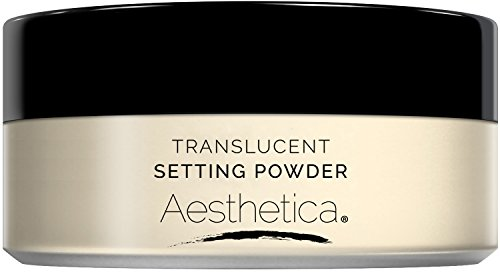 Aesthetica Translucent Loose Setting Powder – Talc Free Finishing Powder for a Flawless Matte Finish – Flash Friendly - Includes Luxurious Velour Puff for Flawless Application