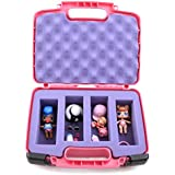 CASEMATIX Pink Toy Box Storage Case Fits LOL Surprise Dolls - Ideal Carrying Box Playset Figures Organizer Accessories - Includes CASE ONLY