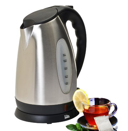 Boiler Electronic - Elite Platinum EKT-7050 Maxi-Matic 10 Cup Cordless Electric Kettle, Stainless Steel, Chrome