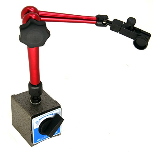 "HFS (R) Magnetic Base Adjustable Metal Test Indicator Holder Level Stand 14""L 3/8"" Clamp"