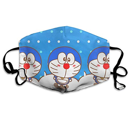 Mouth Mask Doraemon Anti-dust Polyester Face Mask Unisex Germs Bacteria Virus Smog Nose Elastic Strap