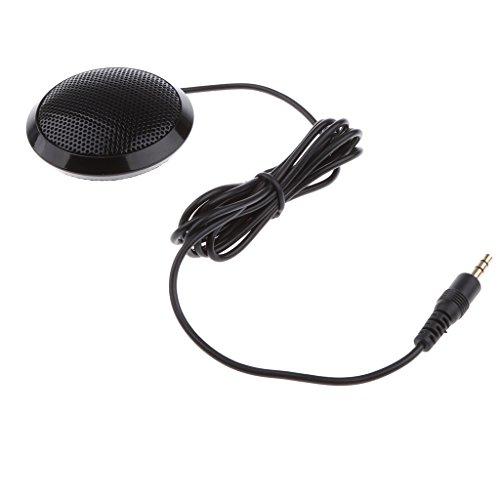 (Homyl Omnidirectional Condenser Microphone, 3.5mm Plug Stereo Desktop Surface Mounted Mic for Teleconferencing, Meetings & Desktop Computer/Tablet/Phones -)