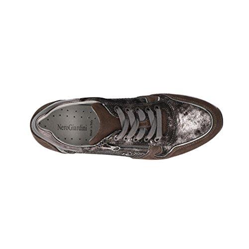 Negro Zapatillas Negro Mujer A806411D Cuero Giardini de Nero para wROaqa