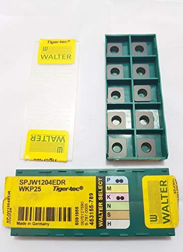 Walter SPJW 1204EDR Hartmetall-Einsätze, Klasse WKP25, Nr. H1, 10 Stück