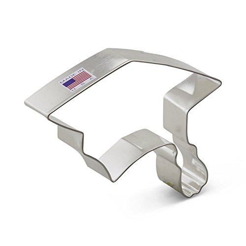 Ann Clark Graduation Cap Cookie Cutter - 4 Inches - Tin Plat