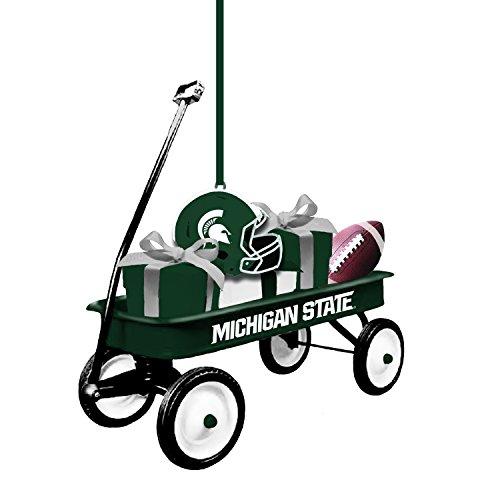 Team Sports America Michigan State Team Wagon Ornament (State Ornaments Christmas Michigan)