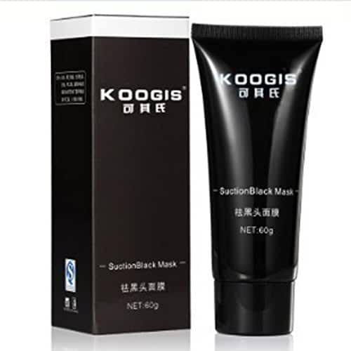 Blackhead Remover, Black Mask, Facial Exfoliators Cream Suction Cleaner Black Mask Tearing Resist Oily Skin Strawberry Nose Purifying Deep Cleansing Acne Remover Black Mud Peel-off Face Mask, 60 grams