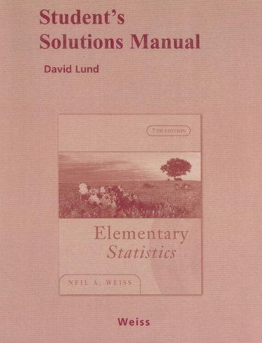 Student Solutions Manual for Elementary Statistics