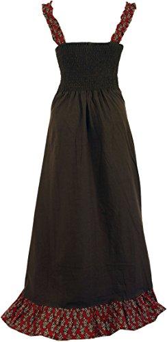 Guru-Shop - Vestido - para mujer marrón