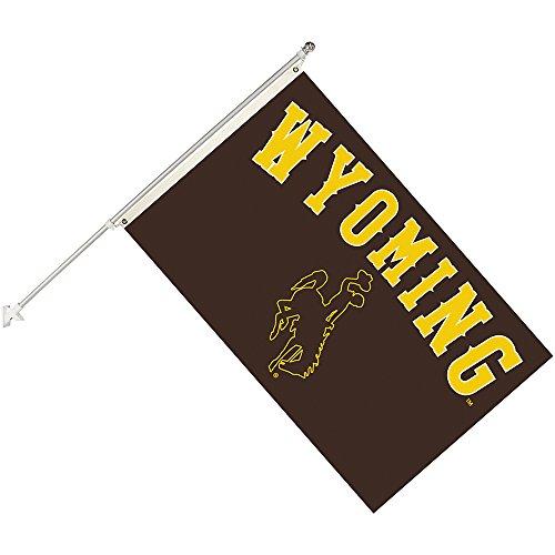 Seasonal Designs, INC. NCAA Wyoming Cowboys Collegiate Helmet Flag Kit, Black, Size 3 x 5