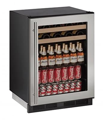 "U-Line U1224BEVS13A Built-in Beverage Center, 24"", Stainless Steel"