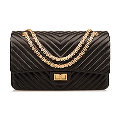 Amazon.com  Ainifeel Women s Genuine Leather Quilted Hobo Handbags ... 0b61b9177e954