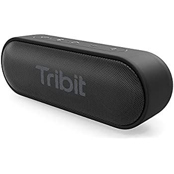 Bluetooth Speaker, Tribit XSound Go Portable Wireless Speakers with Enhanced Bass, IPX7 Waterproof , 24-Hour Playtime, 66FT Bluetooth Range, Built-in Mic for Outdoors and Indoors