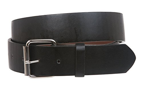 """Price comparison product image BBBelts Women 1-1 / 2"""" White PU Leather Smooth Plain Snap On Metal Buckle Belt, Black M- 34""""~36"""""""