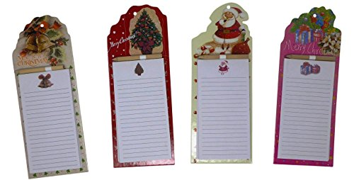 Christmas Notepad (Magnetic Christmas Notepads With Pencils (Pack of 4) 3.5