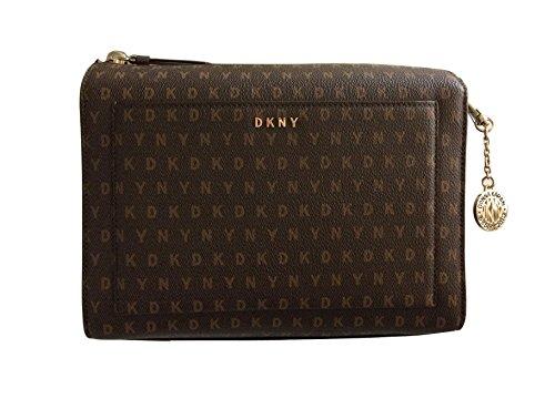 Body in Brown DKNY Bag Cross Logo Coated RPtFFqUf