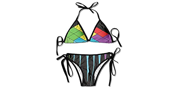 Mujer Tetris Derretir Impresión Fresca Sexy Bikini de Dos Piezas ...