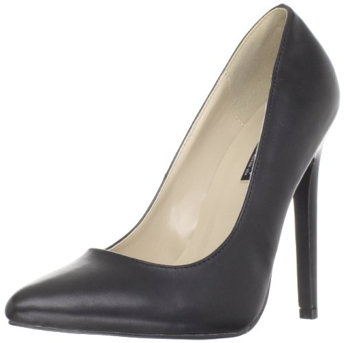 Devious 5-1/4 Inch Heel Stiletto Pump, Blk Faux Leather, Size - 8 ()