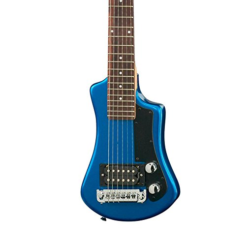 Hofner 6 String Shorty Electric Travel Guitar-Blue w/Gig Bag, Right Handed (HCT-SH-BL-O