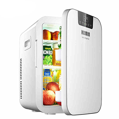 20L Mini Fridge 27-can Portable Thermoelectric Cooler And Warmer Mini Fridge for Bedroom, Office Or Dorm (Color : White) ()