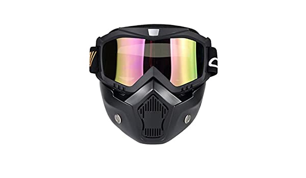 5d2e73a2627 Amazon.com   Wenyujh Anti-Fog Windproof Face Mask Motorcycle Ski Goggles  with Mouth Filter   Sports   Outdoors