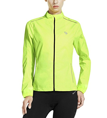 Easy Halloween College Costumes Guys (Baleaf Women's Windproof Windbreaker Cycling Jacket Fluorescent Yellow Size M)