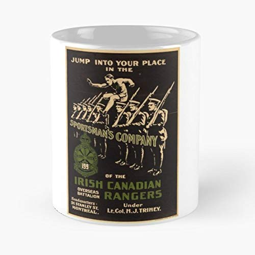 Irish Canadian Ranger Vintage Poster Reproduction Military Funny Floral Coffee Mugs Gifts