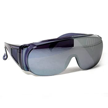 Calabria 1003 Large Fit-Over UV Protection in Silver Mirror