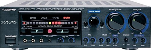 VocoPro DA-9800 RV 600W Professional Digital Key Control Mixing Amplifier with DSP Reverb