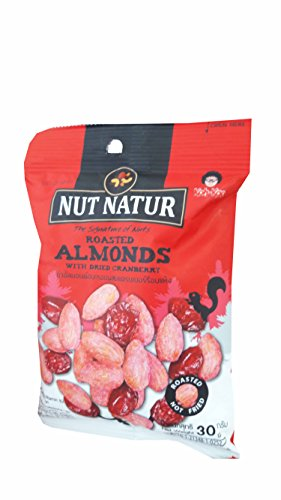 Loccitane Almond Delicious Paste (3 packs of Roasted Almonds with Dried Cranberry. The Signature of Nuts, Roasted not Fried by koh kae. (30 g/)