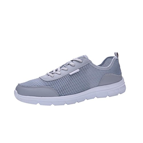 Dance VEMOW Gray Running Wedge Lace Sports Breathable Shoes Flops Sneakers up Walking Men for Flats Hiking Gym Flip Mesh Couple Trainers Sneakers Thongs Shoes Espadrilles Air 44OTdqwr