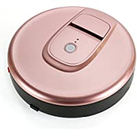 Vacuum Cleaner Robot, FINE DRAGON Automatic Robotic Vacuum Cleaner High Suction Cleaning for Hard Floor and Thin Carpets (Rose Gold)