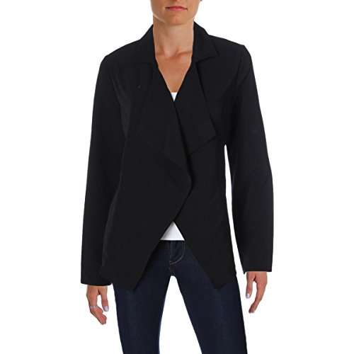 kensie Women's Thick Stretch Twill Jacket, Black, Small by kensie