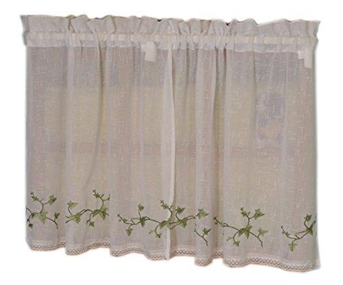- Curtain Chic Garden Path Tier, 24-Inch, Ivy